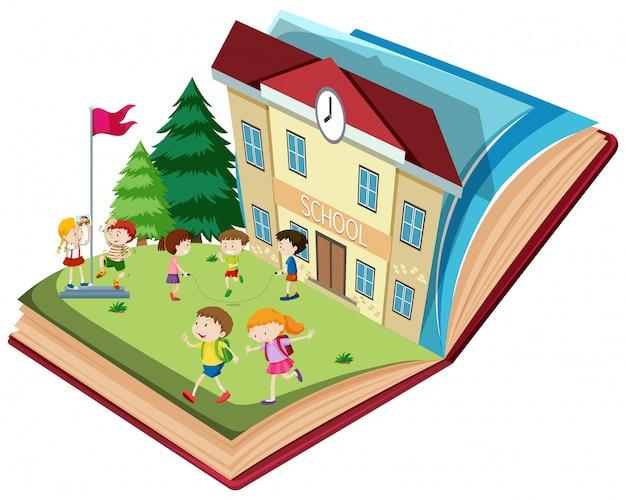 学校で開かれている本のテーマ