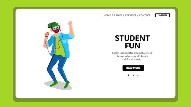 학생 재미있는 음악 듣기 및 춤