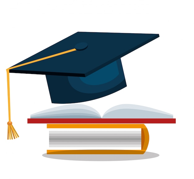 Student graduation school set elements design