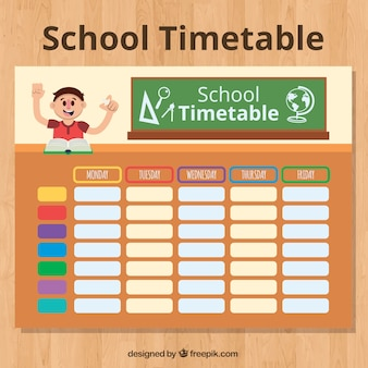 Student in class and school schedule