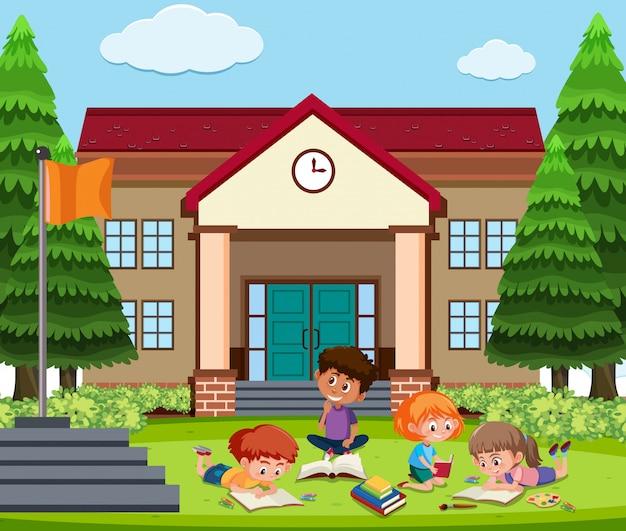 学校外で学ぶ学生