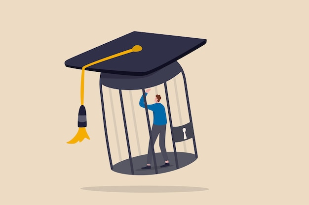Student loan debt, money trap that graduated have to payback huge amount of money.