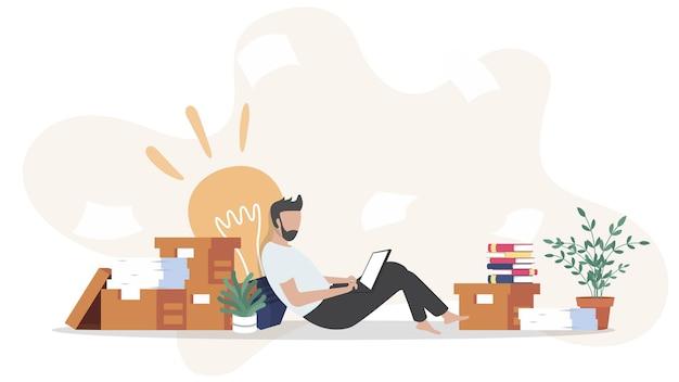 オンラインコンピュータを介して自宅から学生の勉強