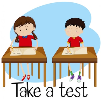 Students are Taking a Test