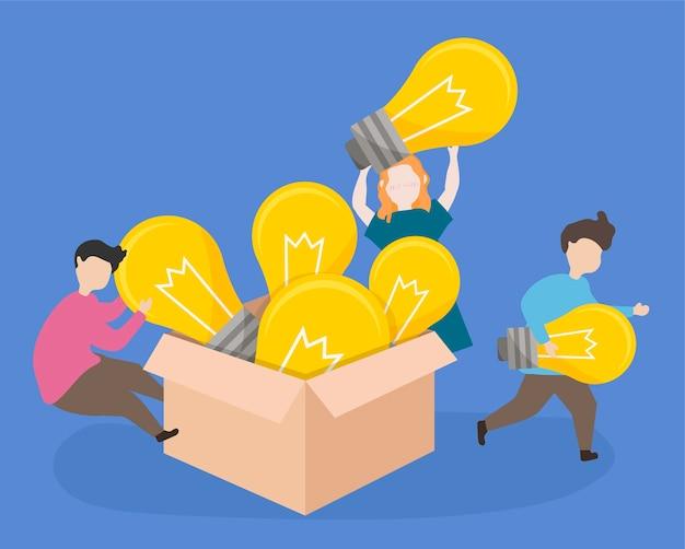 창의적인 아이디어를 수업에 가져 오는 학생들