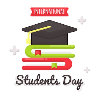 Students day celebration card concept