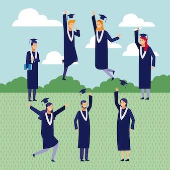 Students graduation cartoons