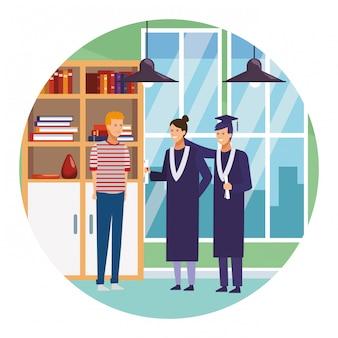 Students on graduation