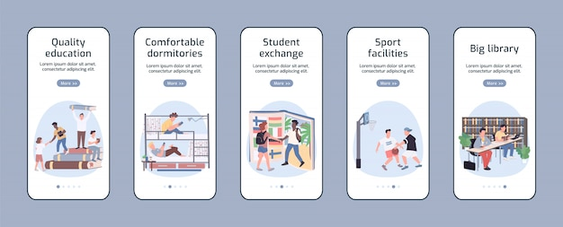 Students lifestyle app screen