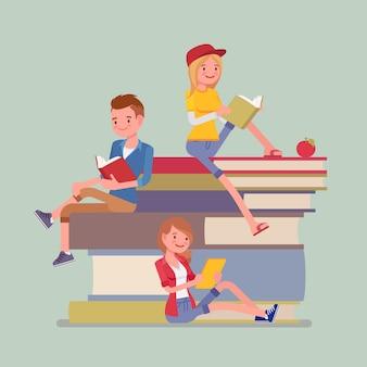 本の山の上の学生