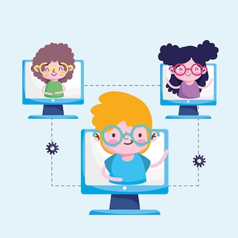 学生のオンライン教育
