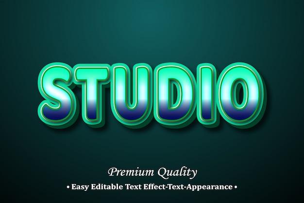 Studio 3d font style effect