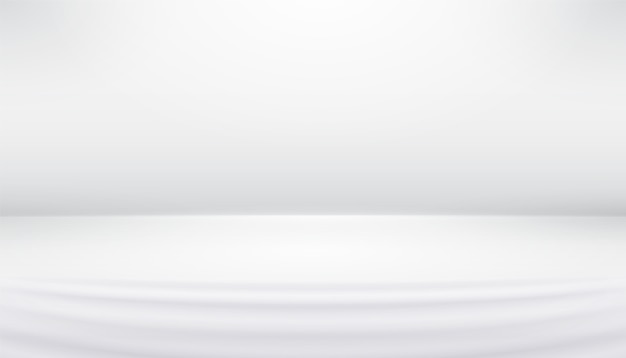 Studio background white gray abstract with smooth lines, shadows