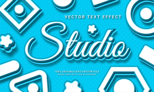 Studio editable text effect with photography theme