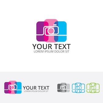 Studio photo vector logo template