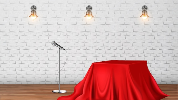 Studio scene for vocal concert or tv show