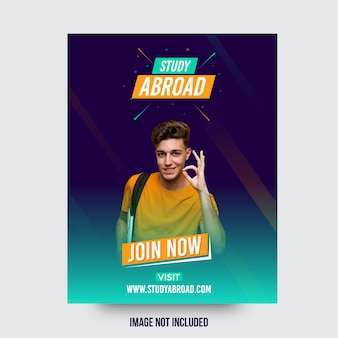 Study abroad attractive advertising banner