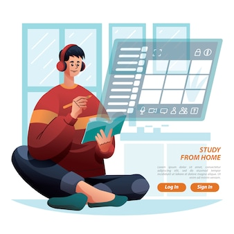 Study from home teacher give task