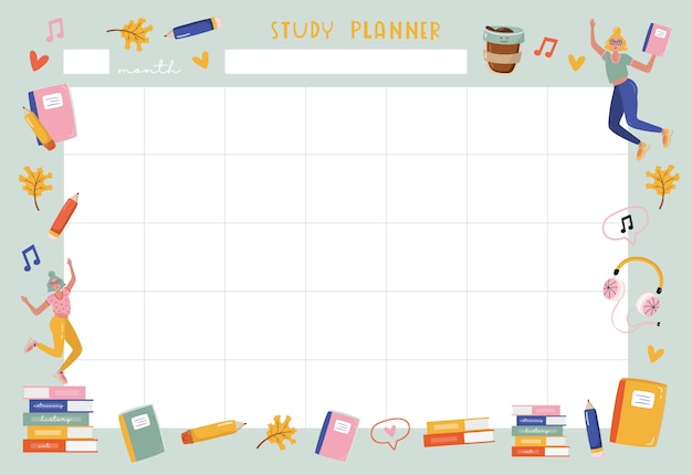 Изучите ежемесячный планировщик.