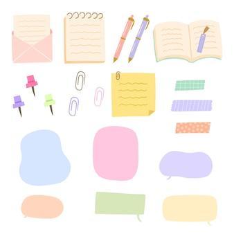 かわいい色で設定された学習ツール要素