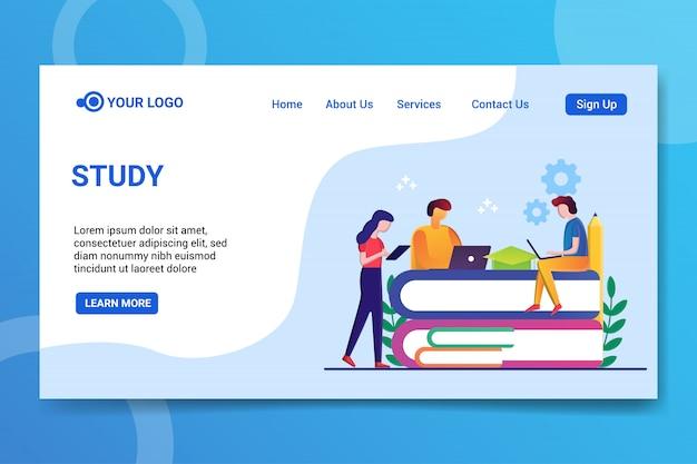 Study web template