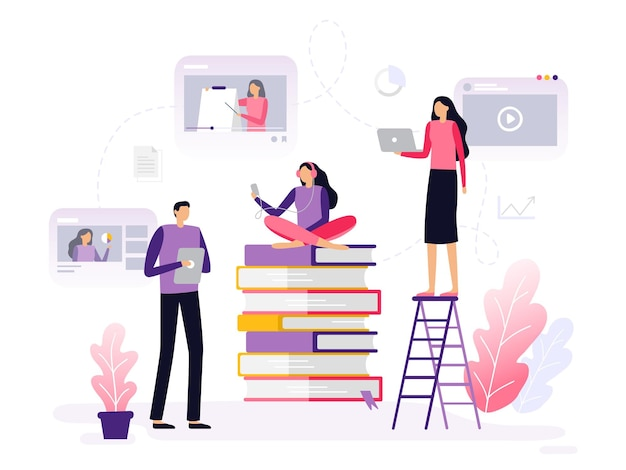Studying people in flat design