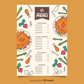 Stuffed chicken menu template