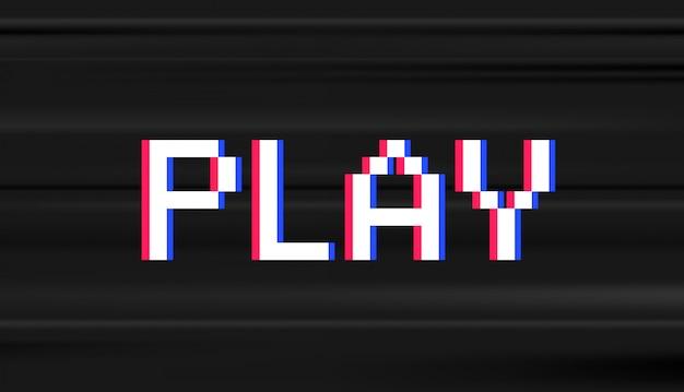 Ретро цифровой тип. компьютерная видеоигра stule word play
