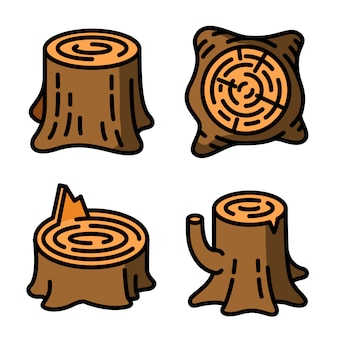 Stumps icons set
