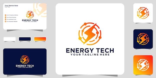 Вдохновение для дизайна логотипа stun energy technology