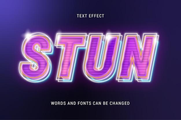 Stun glowing text effect