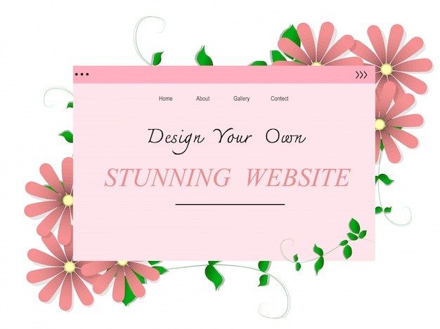 Stunning website design vector