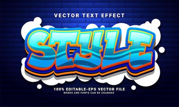 스타일 3d 텍스트 효과, 편집 가능한 낙서 및 다채로운 텍스트 스타일