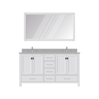Style bathroom vanity and mirror. dressing table