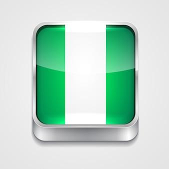 Стиль флаг значок нигерии