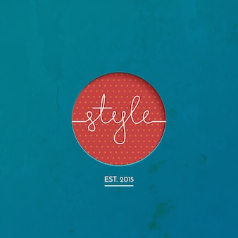 Style lineart logo brand, clothing, fashion, vector illustration