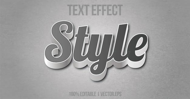 Редактируемый текстовый эффект стиля