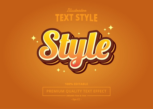 Style  text effect