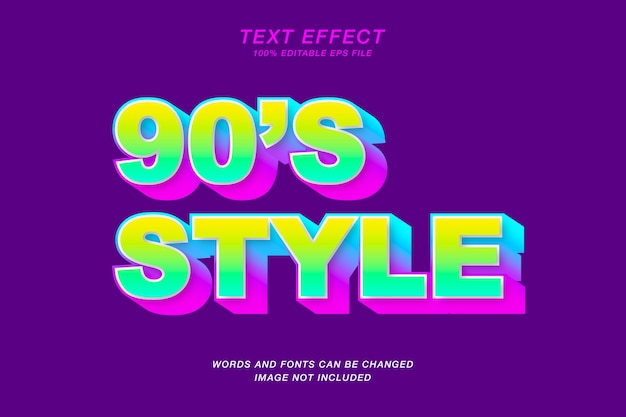 Эффект стиля текста
