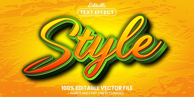 Style text, font style editable text effect