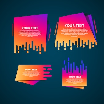 Style text templates speed origami for banner abstract geometric origami