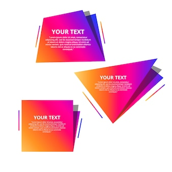 Style text templates speed origami for banner