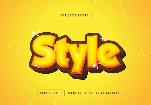 Style yellow secret text style effect editable