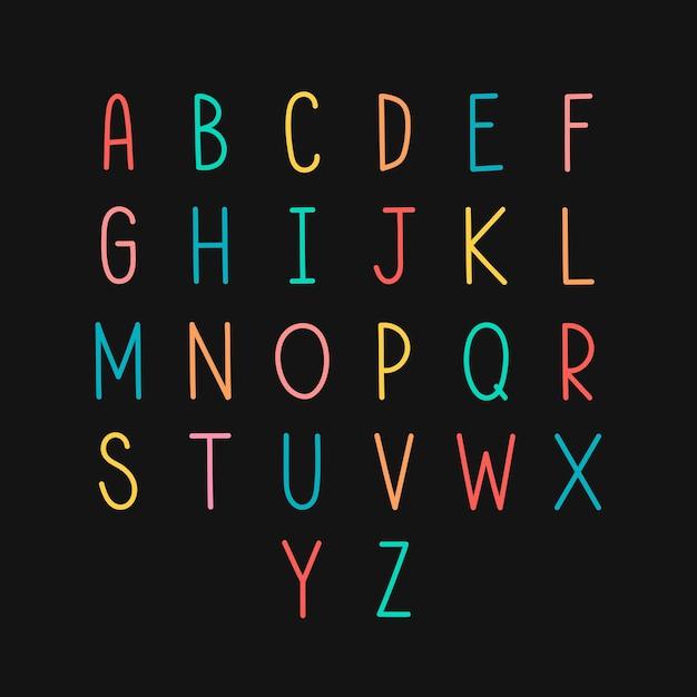 Insieme di alfabeto in stile