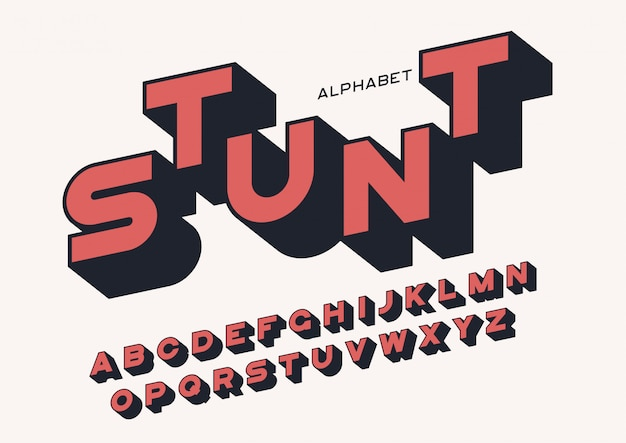 長い影付きのスタイルのサンセリフ大胆な文字。ベクトルのアルファベット