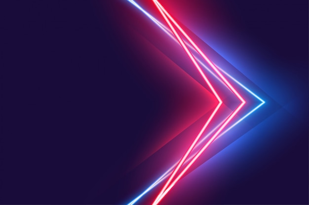 Стильный плакат с неоновым светом в красных и синих тонах