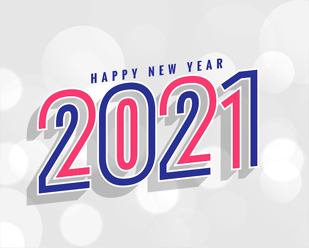 Stylish 2021 new year background in line style