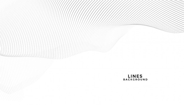 Stylish abstract black lines on white background