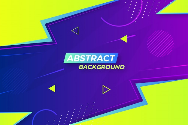 Stylish abstract creative background with different shapes and colors