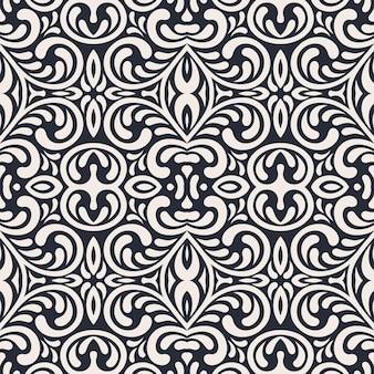세련 된 추상 장식 완벽 한 꽃 패턴입니다.